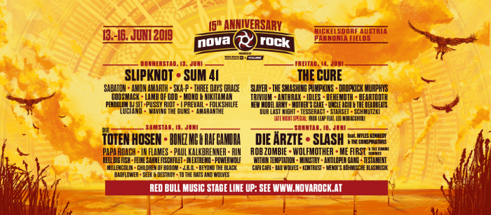 Nova Rock - 15 years of joy on the border of three countries!