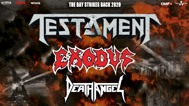 "Testament, Exodus и Death Angel в рамках турне ""The Bay Strikes Back 2020"" 22 февраля в Filderstadt"