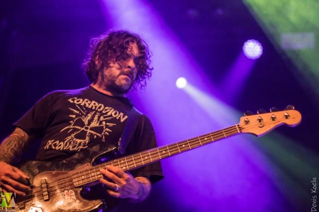 Gary Mader(Bass), EyeHateGod in Stuttgart,04.03.20